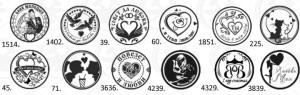 8 Романтические монетки 25 мм